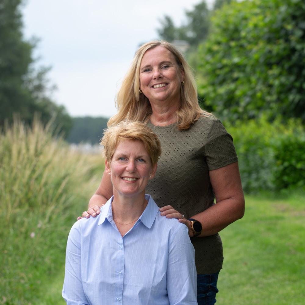 Helma Brouwer en Judith Aalders